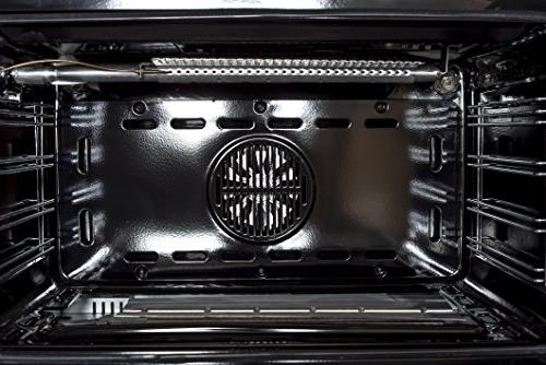 Cosmo COS-965AGC 36 in. 3.8 cu. Oven 5 Heavy Cast Iron Grates Stainless Steel