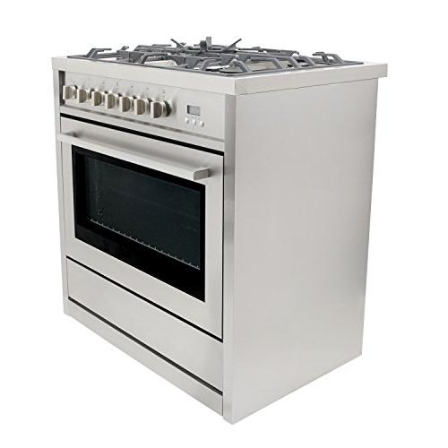 Cosmo COS-965AGC in. 3.8 ft. Oven Gas 5 Burner Grates Stainless