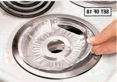 "Set of 18 Disposable Foil Burner Liners Electric Stoves 6x8"""