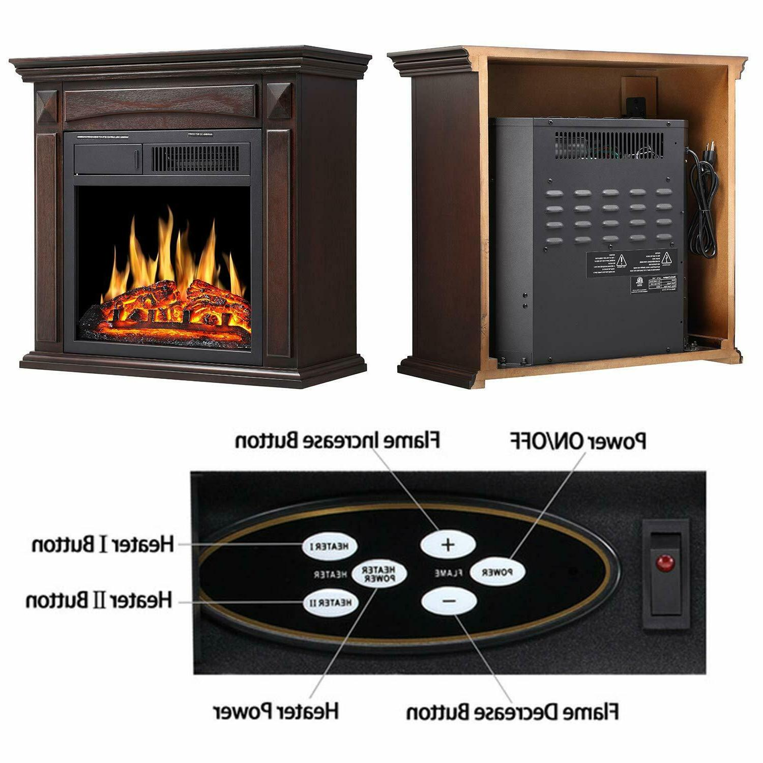 Electric Mantel Surround stove heater deco