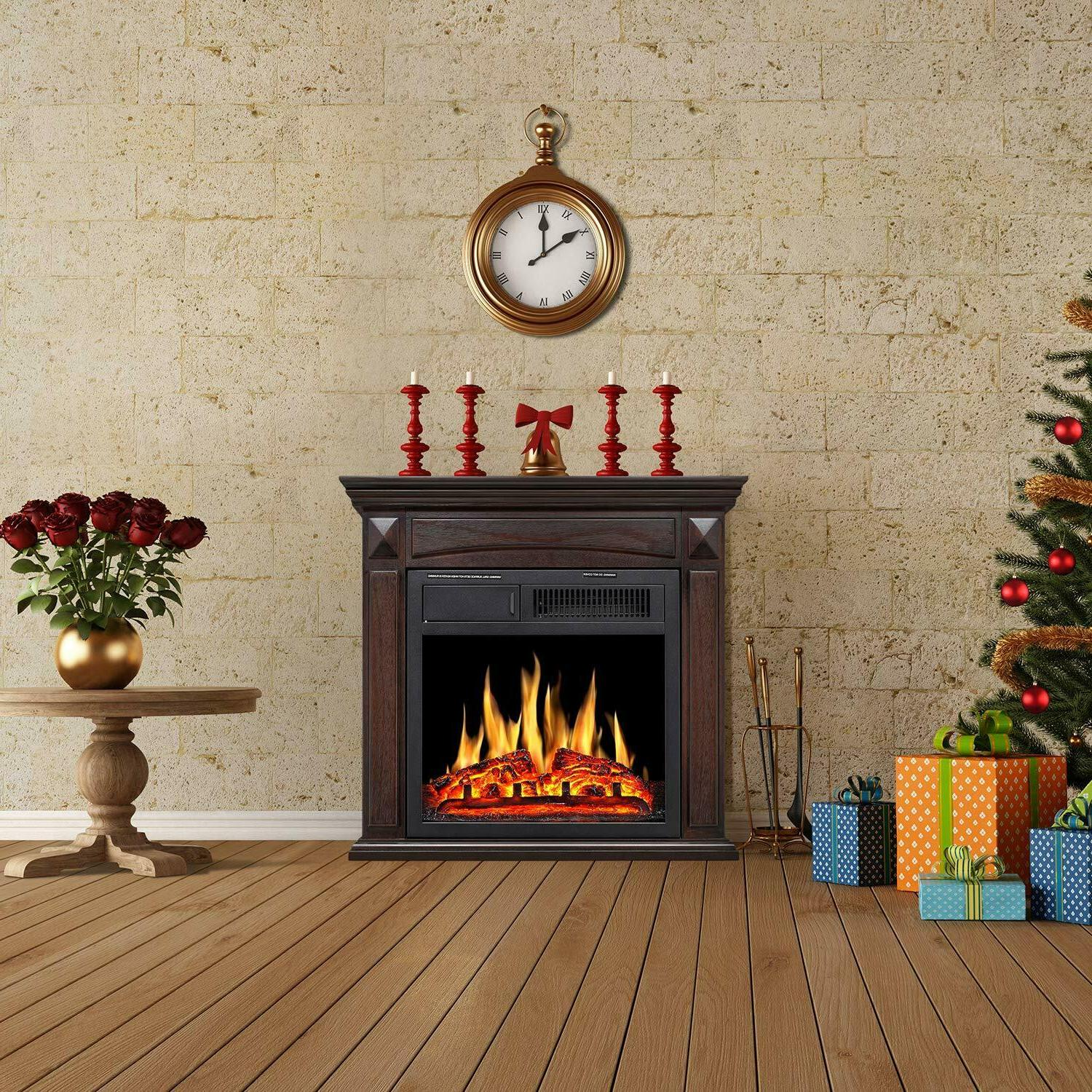 Electric Fireplace Mantel Surround deco