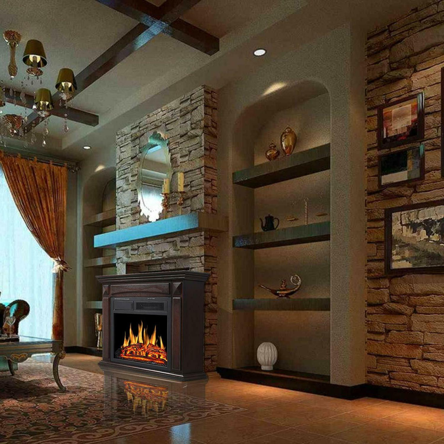 Electric Fireplace Surround stove heater deco
