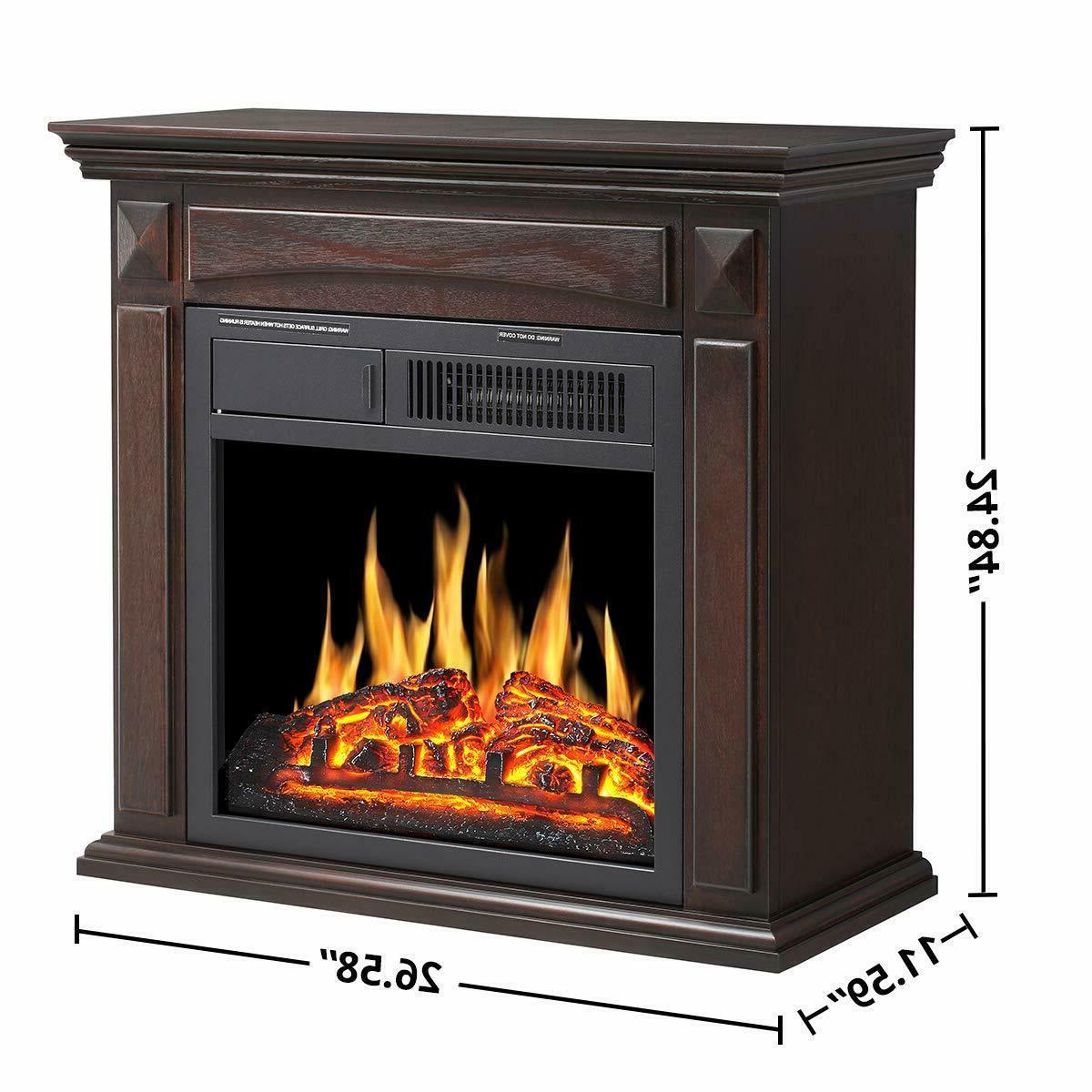 Electric Fireplace Mantel Wooden Surround Firebox,Freestanding deco