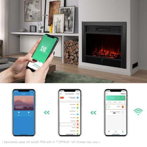 Embedded Fireplace Insert Heater Log Flame with Remote