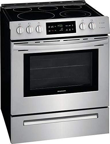 Frigidaire FFEH3054US Inch Freestanding Range with 5 5 cu. Oven in Steel
