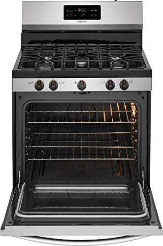 Frigidaire FFGF3054TS Gas Freestanding Range 5 ft. Oven in Stainless Steel