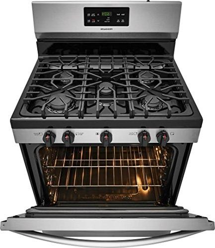 Gas Freestanding Range 5 5 cu. Oven Capacity, in Steel