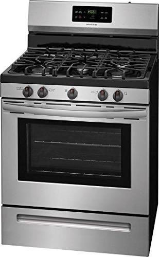 Frigidaire FFGF3054TS 30 Gas 5 Burner 5 cu. Oven in Stainless Steel