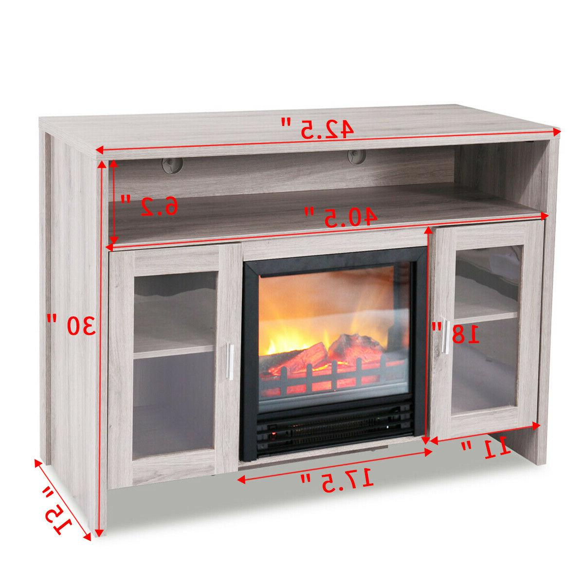 Fireplace Stand Storage Heater to