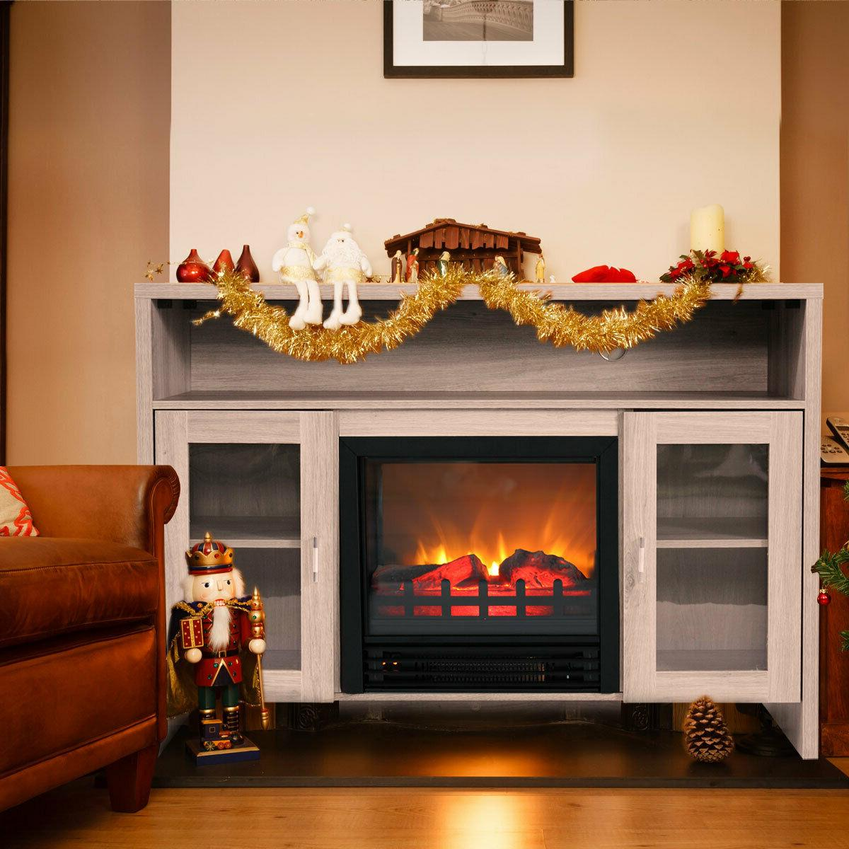 Fireplace TV Heater up to