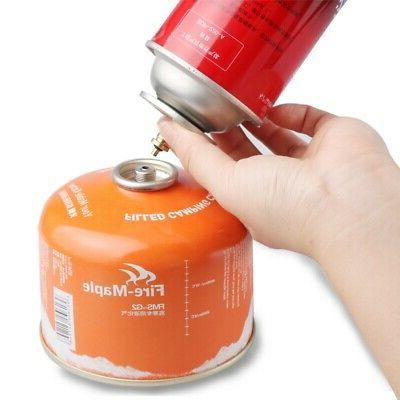 Gas Refill Adapter Outdoor Camping Stove  Cylinder Butane Ca
