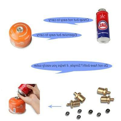 gas refill adapter outdoor camp stove cylinder