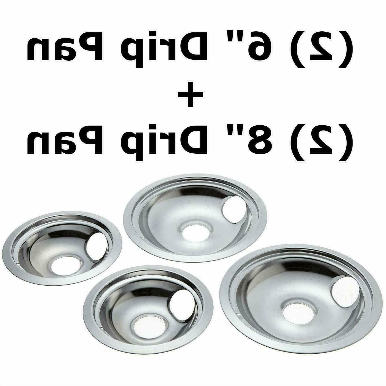 Stanco 4 Pack GE/Hotpoint Electric Range Chrome Reflector Bo