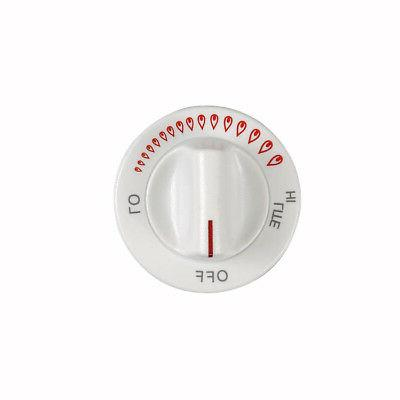 genuine 74002115 cooktop knob burner wht