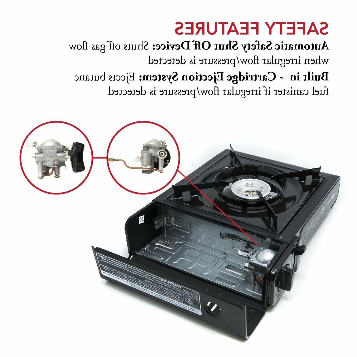 Gas ONE Gas Stove with Case, 9,000 BTU, Approved