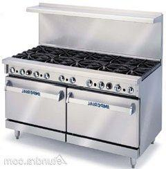 "Imperial IR-10 Gas Restaurant Range 60""W with  Open Burners"