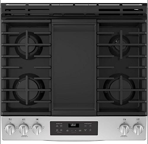 GE JGSS66SELSS 30 Slide-in Sealed Burner Cooktop, cu. Primary Oven Capacity,