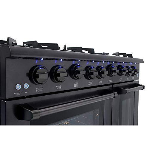Thor Gas Range 6 Cooktop Oven Black Steel Porcelain Oven