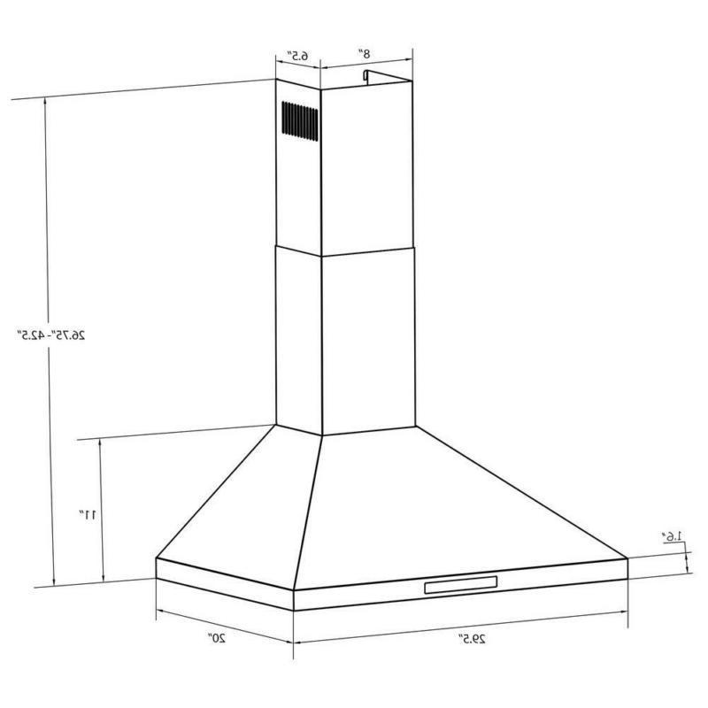 Kitchen Range Hood Stainless Steel 400