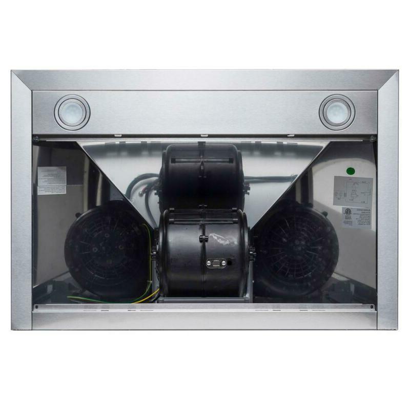 Kitchen Range Hood Steel 400 Stove Vent Kit