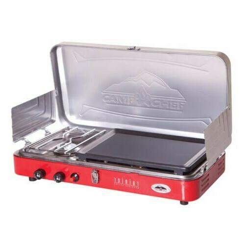 mountain series rainer 2 burner stove griddle