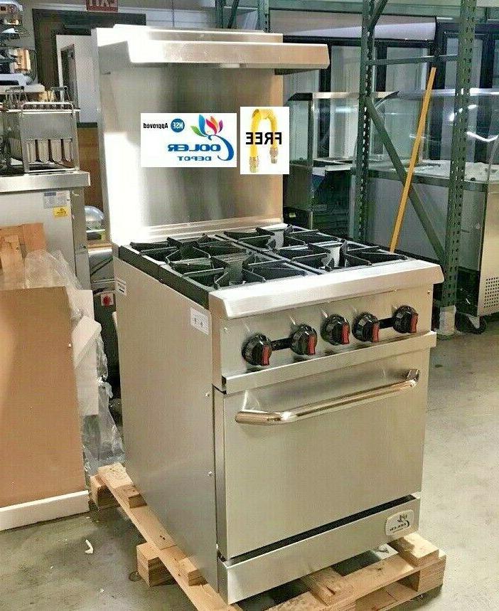 new 24 oven range 4 burner hot