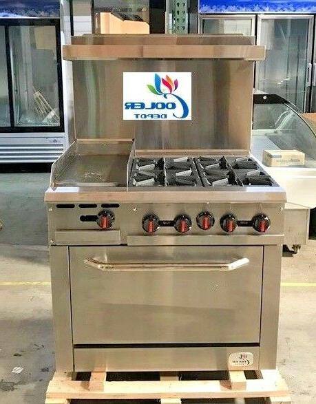 new 36 oven range combo griddle