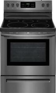 New Frigidaire Electric Range Convection Oven Black Stainles
