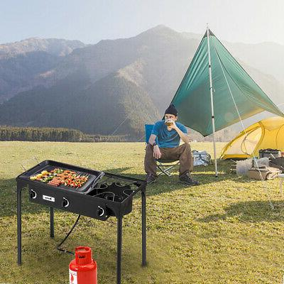 Portable Propane Cooker Stove Outdoor Camping Stand