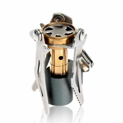 Outdoor Picnic Mini Stove Portable Gas Burner Backpacking Ca