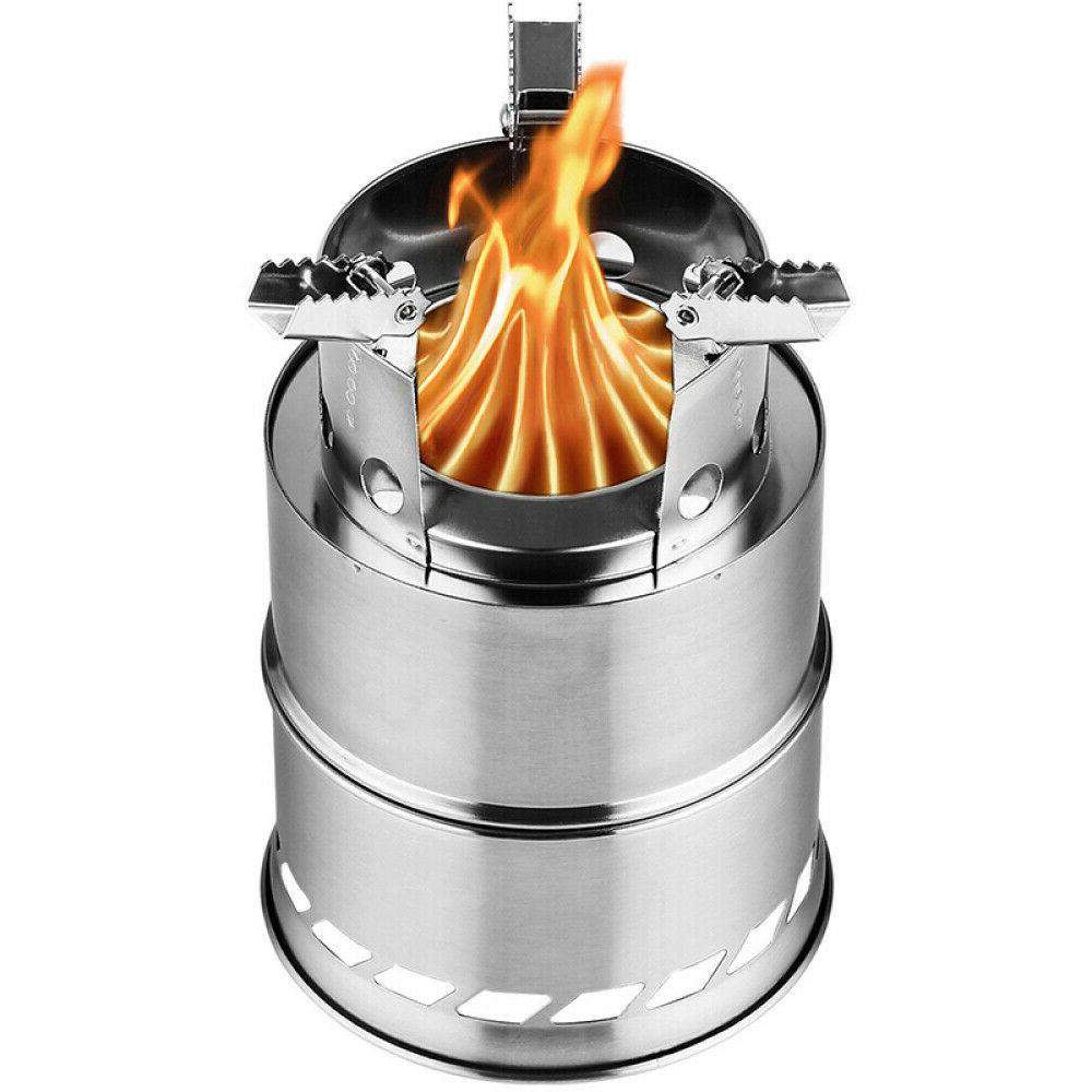 Outdoor Portable Wood Stove Backpacking Survival Wood Burnin