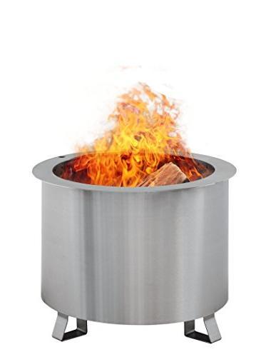 patio fire pit smoke reducing