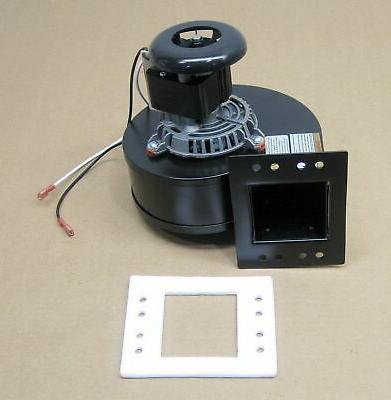 pellet stove room air distribution blower fan
