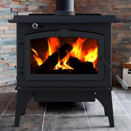 Pleasant 65,000-BTU Wood with Blower and Ceramic Glass