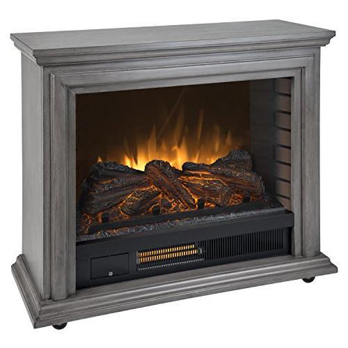 pleasant hearth sheridan mobile infrared fireplace dark weat