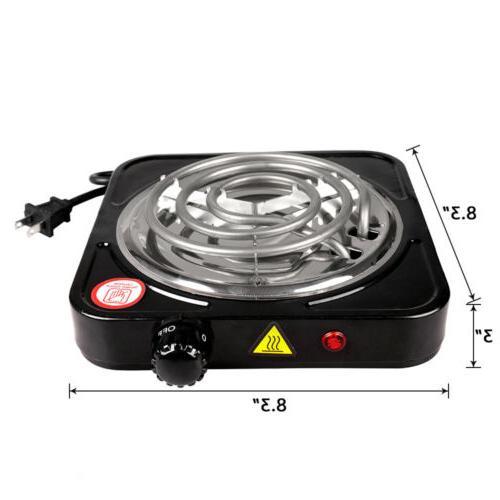 Portable 1000W Burner Plate 110V Portable Stove