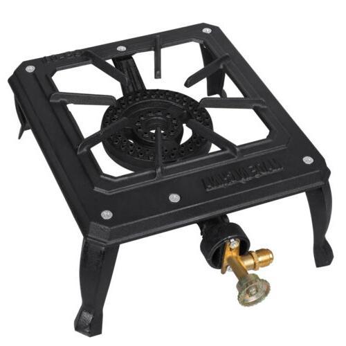 portable camp stove single burner cast iron