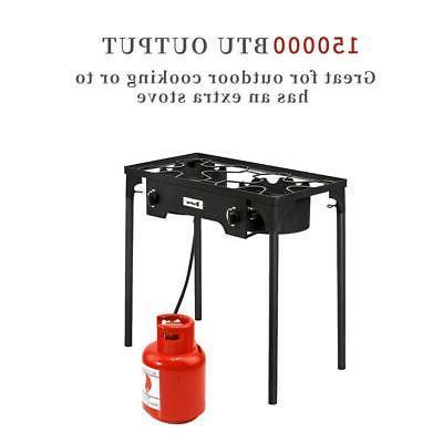 Portable 150,000-BTU Burner Camp Stove