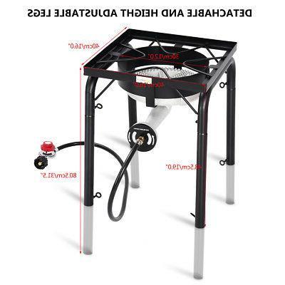 Portable 200,000-BTU Single Burner w Adjustable
