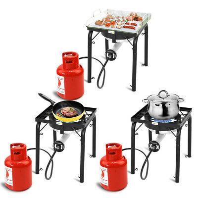 Portable Propane 200,000-BTU Burner w Adjustable Legs