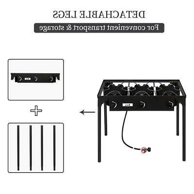 Professional Stove Burner Portable 3 Cooker Camping Grill