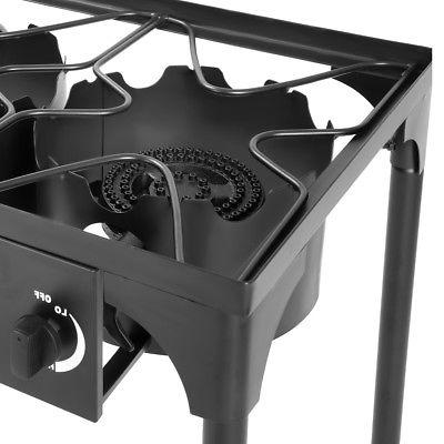 Goplus Portable 3 Gas Cooker Outdoor Camp Stove BBQ