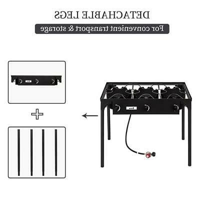 Propane 225000BTU Burner Gas Stove Outdoor Black