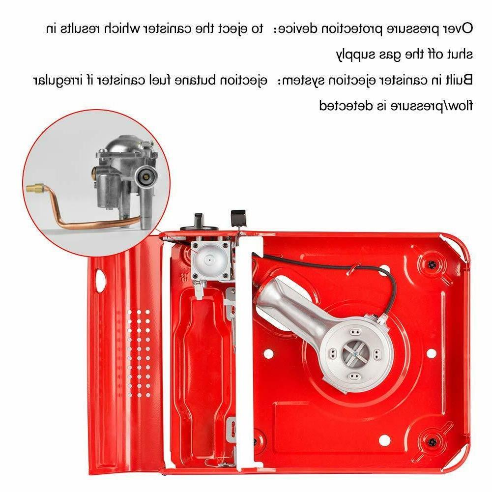 Portable Propane Butane Black Outdoor PRO Gas