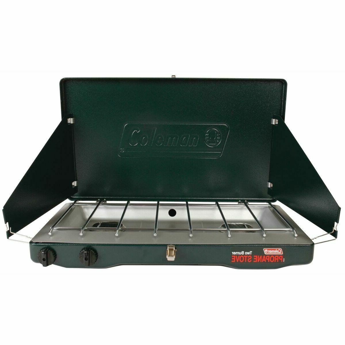 Portable Propane Gas Classic Stove With 2 Burners Indoor Out