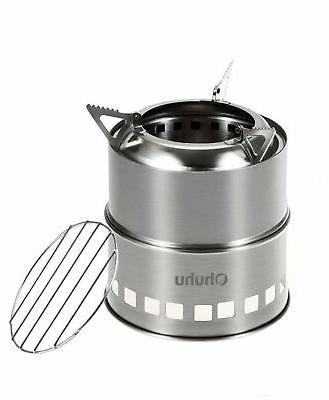 portable stainless steel wood burning