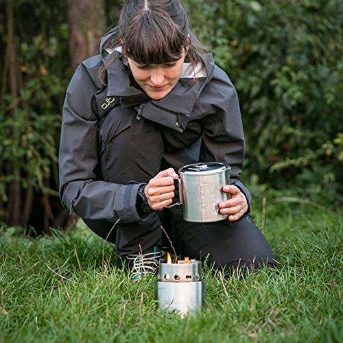 Solo Stove Pot 900 Combo: Burning Cook Lightweight Kitchen Backpacking, Twigs, No Liquid Fuel Required