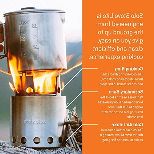 900 Burning System. Lightweight Kitchen for Backpacking, Survival. Burns Twigs, No Liquid Fuel Canister Required