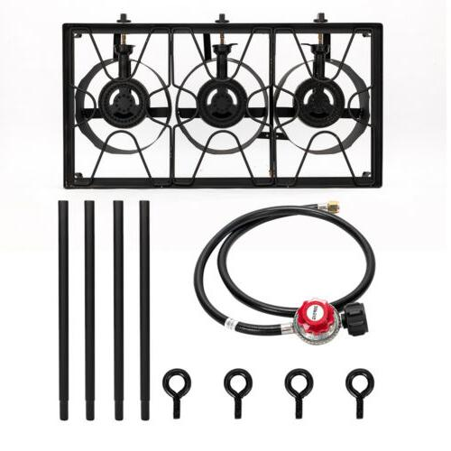 Propane Stove Outdoor Grill Black