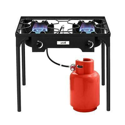 Portable 150,000-BTU 2 Burner Gas Outdoor Camp
